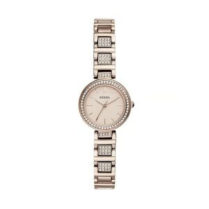 Fossil Karli Mini Three-Hand Pastel Pink Stainless